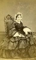France Chartres Femme Mode Second Empire Ancienne Photo CDV Mme Leclerc 1860' - Photographs