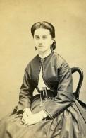 France Saint Omer Maria Roussel Mode Second Empire Ancienne Photo CDV Belle 1860' - Photographs