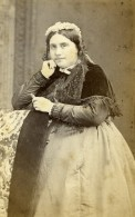France Beauvais Femme Mode Second Empire Ancienne Photo CDV Herbert 1860' - Old (before 1900)