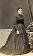 France Toulouse Femme Mode Second Empire Ancienne Photo CDV Marrast 1860' - Old (before 1900)