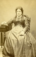 France Chartres Femme Mode Second Empire Ancienne Photo CDV Rondin 1860' - Old (before 1900)