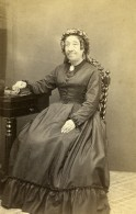 France Chartres Femme Mode Second Empire Ancienne Photo CDV Rondin 1860's - Photographs
