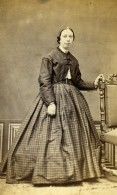 France Rennes Marguerite Hyart Mode Second Empire Ancienne Photo CDV Gilbert Aine 1860' - Old (before 1900)