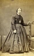 France Rennes Marguerite Hyart Mode Second Empire Ancienne Photo CDV Gilbert Aine 1860' - Photographs