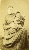 France Femme Enfant Et Poupee Mode Ancienne Photo CDV 1870's - Photographs