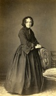 France Paris Femme Agee Mode Second Empire Ancienne Photo CDV 1860' - Old (before 1900)