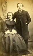 France Mari Et Femme Couple Mode Second Empire Ancienne Photo CDV 1860' - Old (before 1900)