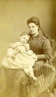 France Femme Mere Et Enfant Mode Ancienne Photo CDV 1870' - Photographs