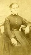 France Portrait De Femme Mode Ancienne Photo CDV 1880 - Photographs