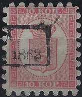 Finlande Coat Of Arms (FACIT) N°4a Roulette I Obl Petit Dateur Rectangulaire...qualité Exceptionelle De Dentelure ! - 1856-1917 Administration Russe