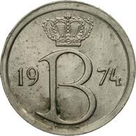 Monnaie, Belgique, 25 Centimes, 1974, Bruxelles, TTB, Copper-nickel, KM:154.1 - 02. 25 Centimes