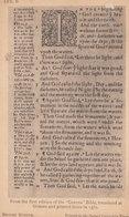 Geneva Bible First Edition Page Antique London Postcard - Sculptures