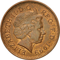 Monnaie, Grande-Bretagne, Elizabeth II, Penny, 1999, TTB, Copper Plated Steel - 1971-… : Monnaies Décimales