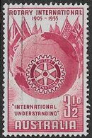 Australia SG281 1955 Rotary International 3½d Good/fine Used [13/13747/6D] - 1952-65 Elizabeth II : Pre-Decimals