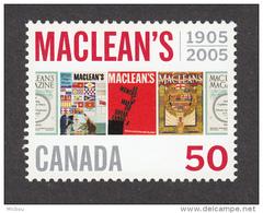 Canada, 2005, Maclean's, Revues, Littérature, éditeur, Journal, Newspaper - Kulturen