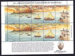 Tonga Niuafoou 1996 MNH MS Of 10 - Shows Volcano Eruption - Tonga (1970-...)