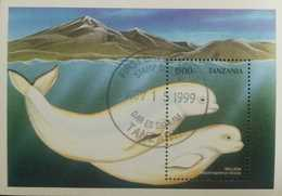 O) 1999 TANZANIA, BELUGA CETACEAN - WHALE -ARCTIC - MARINE LIFE, XF - Tanzania (1964-...)