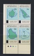 MICRONESIE Cartes Reimpression 1986 YVERT N°17/20 NEUF MNH** - Micronésie