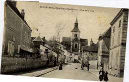 52 DOULEVANT-LE-CHÂTEAU - Rue De La Gare - Animée - Doulevant-le-Château