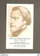 BEATO A. FEDERICO OZANAM  PREGHIERA DEI VINCENZIANI SANTINO - Devotion Images