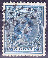 1891 Puntstempel 83 (Oldenzaal) Op  Prinses Wilhelmina Hangend Haar 5 Cent Blauw NVPH 35 - Poststempels/ Marcofilie