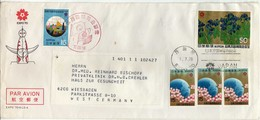 Japan Letter. EXPO 1970.nice Mix Stamps - 1926-89 Empereur Hirohito (Ere Showa)