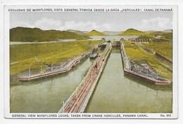 General View Miraflores Locks, Taken From Crane Herccules, Panama Canal - Panama