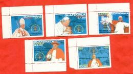 Guatemala 1996.Visit Of Pope John Paul II. Complete Series. New Stamps. - Guatemala