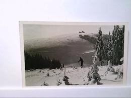 AK Schnett/Masserberg, Blick Zum Simmersberg, Winterlandschaft, Skifahrer, Echt Foto, 1961, Gelaufen. - Unclassified