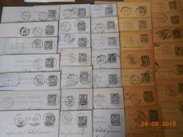 Entiers Postaux - Lot D'environ 230 Entiers Type Sage Avec Des Belles Oblitérations ( DAGUIN) Pour Amateurs - 1877-1920: Semi-moderne Periode