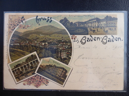 GRUSS AUS BADEN-BADEN - 1900 - Baden-Baden
