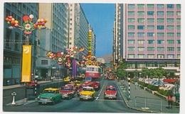 HONG KONG , TAXI CAR,  BUS , Festival   Vintage Old Photo Postcard - Chine (Hong Kong)