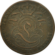 Monnaie, Belgique, Leopold I, 5 Centimes, 1851, TTB, Cuivre, KM:5.1 - 1831-1865: Léopold I.