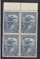 MICHEL 175**/*  EN BLOC DE 4,BORD DE FEUILLE - JACQUES CARTIER - COTE 28 EURO - - 1911-1935 Règne De George V