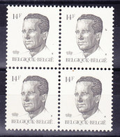 BELGIQUE COB 2352 ** MNH  BLOC DE 4, GOMME VERTE. (4TJ36) - 1981-1990 Velghe