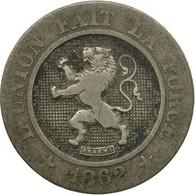 Monnaie, Belgique, Leopold I, 10 Centimes, 1862, B+, Copper-nickel, KM:22 - 1831-1865: Léopold I