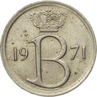 Monnaie, Belgique, 25 Centimes, 1971, Bruxelles, TB, Copper-nickel, KM:154.1 - 02. 25 Centimes
