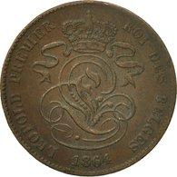 Monnaie, Belgique, Leopold I, 2 Centimes, 1864, TTB, Cuivre, KM:4.2 - 1831-1865: Léopold I