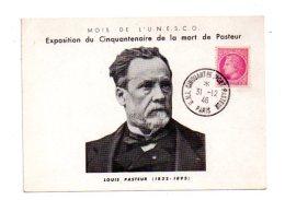 Cinquantenaire De La Mort De Pasteur -Paris - 1946 - Voir état - France