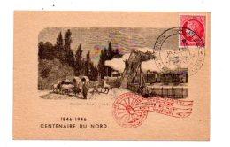 Centenaire Du Chemin De Fer Du Nord - 1846-1946-Paris Gare Du Nord - Voir état - France
