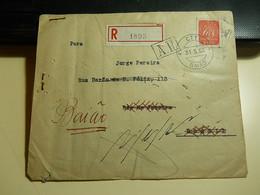 Cover * Portugal * 1952 * Registered * Com Aviso De Recepção * Baião To Rio De Janeiro (Brazil) - 1910-... République
