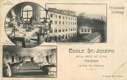 63 , THIERS , Ecole ST JOSEPH , Pensionnat Externat , * 308 13 - Thiers