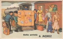 ENFIN ARRIVES A MOREZ  - CARTE A SYSTEME - Morez