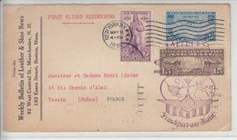 FIRST FLIGHT HINDENBOURG - LETTRE DES USA POUR LA FRANCE - CACHET SPECIAL DU VOL EN VIOLET - V/IMAGE - 1c. 1918-1940 Covers