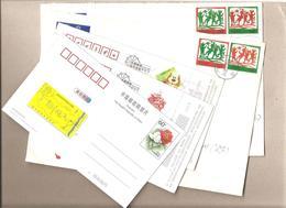 Cina - 2 Buste Postali Circolate + 3 Cartoline Postali - 1949 - ... Repubblica Popolare