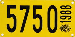 Plaque D'immatriculation De Bateau Nationale Rectangulaire 1988 - Number Plates