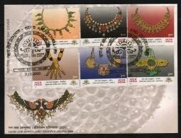 India  2000  Minerals  Diamonds  Gems And Lewellery  6v  PATNA  FDC   #  07477   D  Inde Indien - Minerals