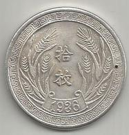 Cina, Repubblica, 1936, Anno 25°, Yuan, Gr. 20,65. - Cina