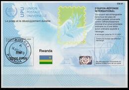 RWANDA RUANDA Is41A  2000 FRW  20180112 AA  International Reply Coupon Reponse Antwortschein IAS IRC Hologram O KIGALI - Sonstige
