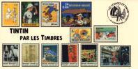 FRANCE Poste 2007 #08 Cachet Premier Jour FDC TINTIN Voyages KUIFJE TIM HERGE GUEBWILLER - Comics